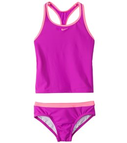 Nike Girls' Core Solids Racerback Tankini and Brief Set (7-14)