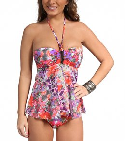 Profile by Gottex Tropical Mirror Mesh Tankini Top
