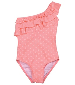Hula Star Girls' Mini Bow One Piece (4-6X)