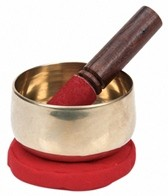 Sacred Space Golden Cast Tibetan Singing Bowl 4