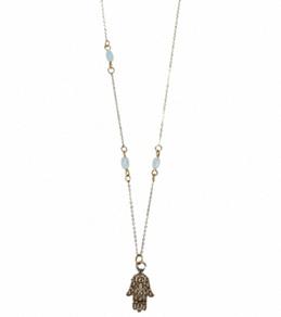 Flea Market Girl Hamsa Beaded Necklace