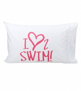 1Line Sports Love 2 Swim Pillow Case