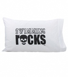 1Line Sports Swimming Rocks Pillow Case