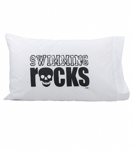 1Line Sports Swimming Rocks Pillow Case