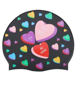 Sporti Love Hearts Silicone Swim Cap
