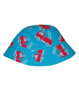 iPlay Boys' Aqua Fire Truck Sun Protection Hat (0mos-4yrs)