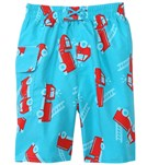 iPlay Boys' Aqua Fire Truck Swim Diaper Pocket Trunks (6mos-4yrs)