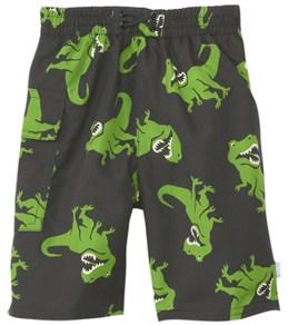 iPlay Boys' Black T-Rex Swim Diaper Pocket Trunks (6mos-4yrs)