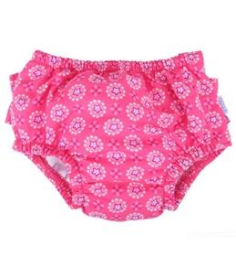 iPlay Girls' Geo Ruffle Swim Diaper (6mos-3yrs)