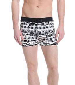 Sauvage Men's Vintage Tribal Aztec Square Cut Boardshort
