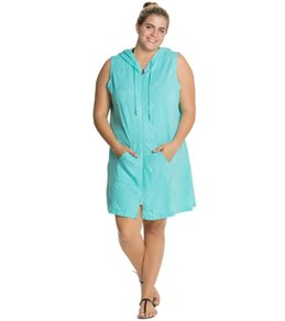 Dotti Plus My Mi-Shell Zip Front Hoodie Dress