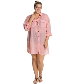 Dotti Plus Chambray Party Safari Shirt