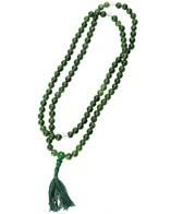 Green Agate Mala Beads