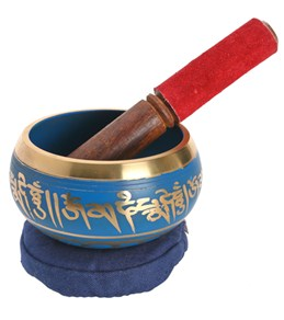 Sacred Space Blue Cast Tibetan Singing Bowl