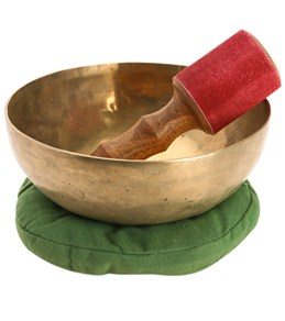 "Sacred Space Hand Hammered Tibetan Singing Bowl 8"""