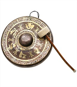 Sacred Space Premium Burnised Himalayan Temple Nipple Gong 13.25""