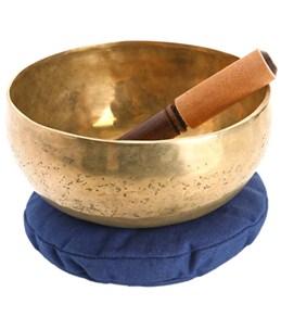 """Sacred Space XL Healing Note F Chakra Tibetan Singing Bowl 8"""""""