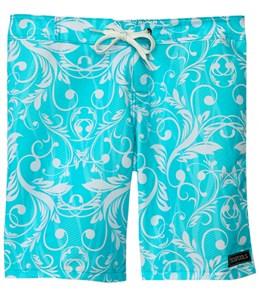 Tidepools Girls' Seaweed Ocean Surf Trunks (7-14)
