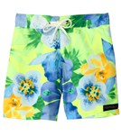 Tidepools Girls' Hanalei Sunrise Surf Trunks (4-14)