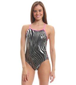 Splish Glitter Zebra Super Thin Strap One Piece