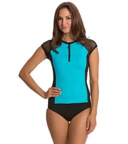 Nautica Women's Zip Front Surf Shirt