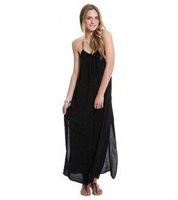 Lucy Love Solid Sunset Maxi Dress