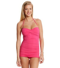 Tommy Bahama Pearl Solids Shirred Twist Front One Piece
