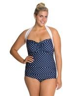 Girlhowdy Plus Size Sandy Frock Halter One Piece Swimsuit