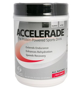 Accelerade All Natural Protein-Powered Sports Drink (30 serve canister)