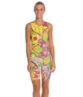 Triflare Women's Yellow Paisly Trisuit