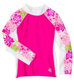 Tuga Girls' Happy Hibiscus L/S Swim Shirt (3mos-14yrs)