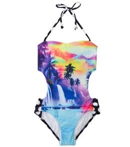 Seafolly Girls Sunset Island Cut Out Monokini (6-16)