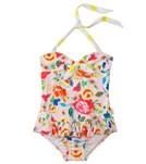 Seafolly Girls Roses Are Pink Halter One Piece (6mos-7yrs)