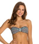 Beach Diva Swimwear Set in Stone Bandeau Bikini Top