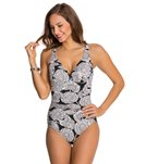 Penbrooke Lady Lace Shirred Front Mio One Piece Swimsuit