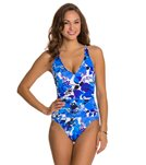 Penbrooke Cool Hues V-Neck Mio One Piece Swimsuit