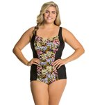 Penbrooke Plus Size Piccadilly Girl Leg One Piece Swimsuit