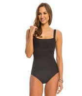 Miraclesuit Spectra Band-It Square Neck One Piece Swimsuit