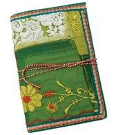 Homeport Textile Notebook, Green, Medium