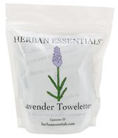Herban Essentials Yoga Mat Cleaner Lavender Towelettes