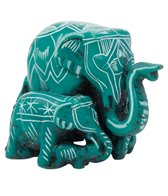 Yak & Yeti Elephant Family Statue