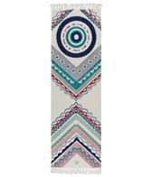 La Vie Boheme White Mandala Yoga Travel Rug