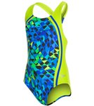 Speedo Girls' Spectrum Split Sport Splice One Piece (7yrs-16yrs)