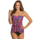 Profile by Gottex Mardi Gras Fly Away Tankini Top
