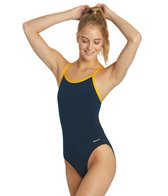 Sporti Poly Pro Piped Thin Strap Swimsuit