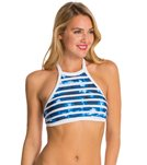 Seafolly Inked Stripe High Neck Tank
