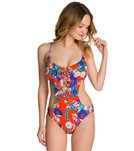 Seafolly Field Trip Cut Out Maillot One Piece Swimsuit