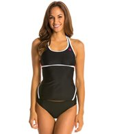Absolute Fitness Swim Solid Novelty Back Tankini