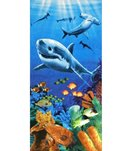 dohler USA Sharks Colorful Reef Beach Towel 30 x 60