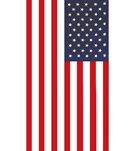 dohler USA American Flag Beach Towel 30 x 60
